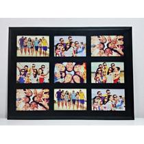 Porta Retrato De Parede De Aço - 9 Fotos 10x15