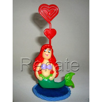 20 Lembrancinhas Pequena Sereia Ariel Porta Recado Biscuit
