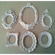 Kit 6 Espelhos / Molduras Estilo Ouro Provençal