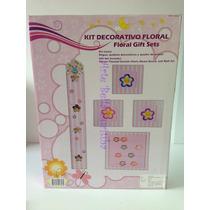 Lindo Kit Decorativo Para Quarto Menina 5 Peças.