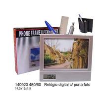 Kit 15 Porta Retrato C/relogio Porta Caneta- Personalizado