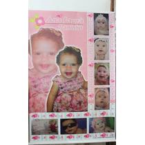 Baner 60x90 Com 8 Fotos Da Sua Criança + Personalgem+brind