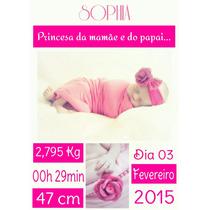 Foto Personalizada Do Nascimento Do Bebê