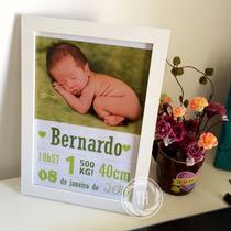 Arte Personalizada De Nascimento Para Decorar *frete Grátis*