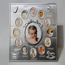 Porta Retrato Meu 1 Aninho - Primeiro Ano De Vida - Alumínio