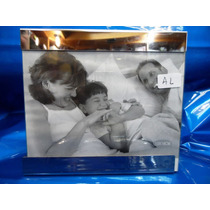 Porta Retrato Aço Cromado E Vidro P/ 1foto 13 X 18 Ou 18 X13