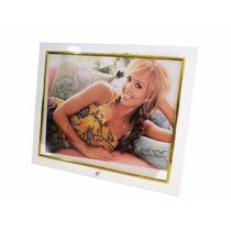 Porta Retrato Vidro 25x20 Prata/dourado