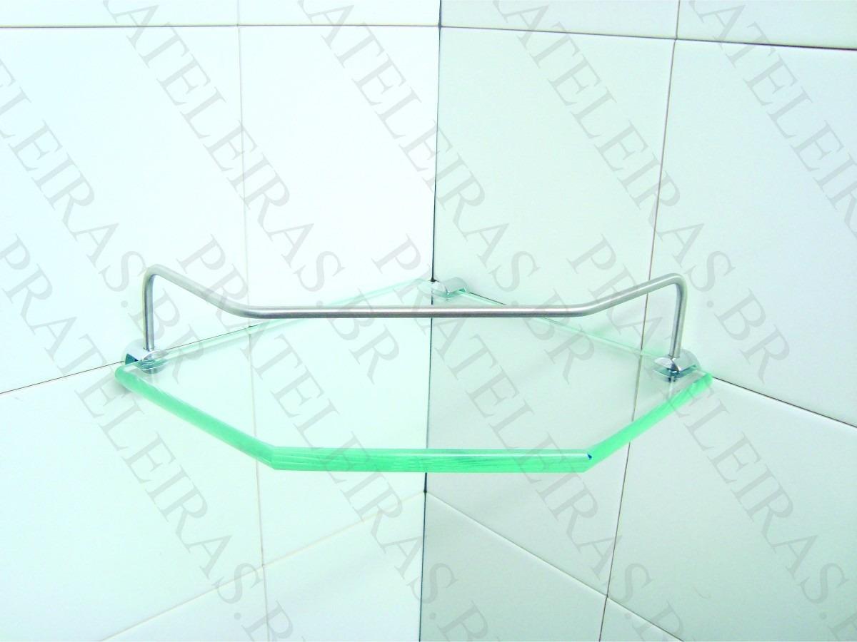 Porta Shampoo Cantoneira Prateleira De Vidro 20x20 Incolor R$ 25 28  #0FBC68 1200 900