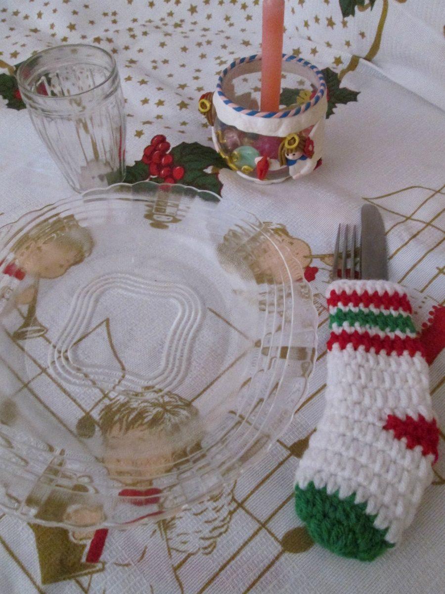 Porta Talher  Meia Natalina  Decoração Mesa Natal Toalha  R$ 10,00 no Merc -> Decoracao Banheiro Natal