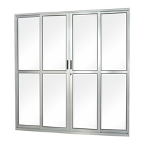 Porta De Correr Em Alumínio Vidro Liso 4 Folhas Abertura