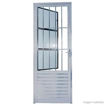 Porta Aluminio Social 80 Brilhante