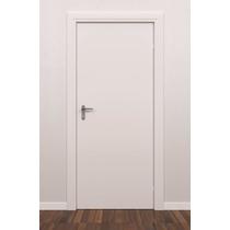 Porta De Madeira Branca 70 X 2,10 Com Fechadura E Batente