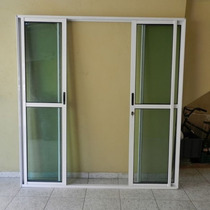 Porta Sacada 4.fls De Alum 2.10 X 1.80 Branca L-25