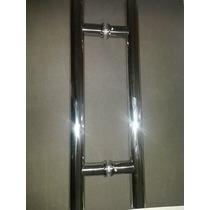 Puxado Para Porta De Vidro H 45x30 Inox Brilhante