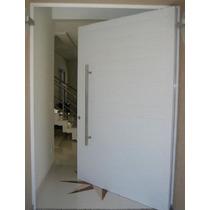 Porta Pivotante De Alumínio 1200x2100- Lisa Porta Completa