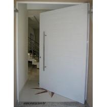 Porta Pivotante De Alumínio 1400x2400- Lisa Completa 12x Sem