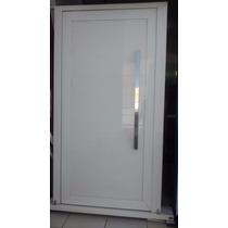 Porta Pivotante Alumínio Branco Gs 100 Mm