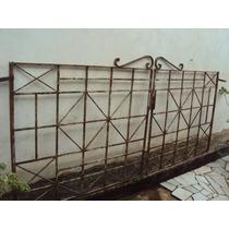 Portão De Ferro Antigo 2 P. R$ 420,00 P/ Retirar Em Curitiba