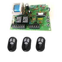 Placa Central Para Motor De Portão Universal + 3 Controles