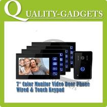 4 Em 1 Interfone 7 Color Monitor Câmara