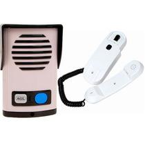 Kit Interfone Porteiro Eletrônico Agl Em Abs C/ Saída12v