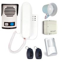 Kit Interfone Agl Com Alarme + 2 Sensores Sem Fio + Controle