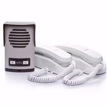 Porteiro Eletrônico Coletivo Agl 2 Pontos + 02 Monofones