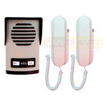 Porteiro 2 Pontos+2 Monofones+1 Fechadura Invertida+protetor