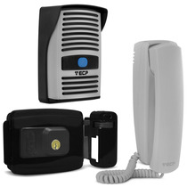Kit Interfone + Monofone + Fechadura Elétrica Residencial