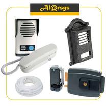 Kit Interfone Agl P10 + Protetor + Fechadura Invertida + Fio