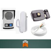 Kit Interfone Agl + Fechadura Elétrica + Cabo - Frete Grátis