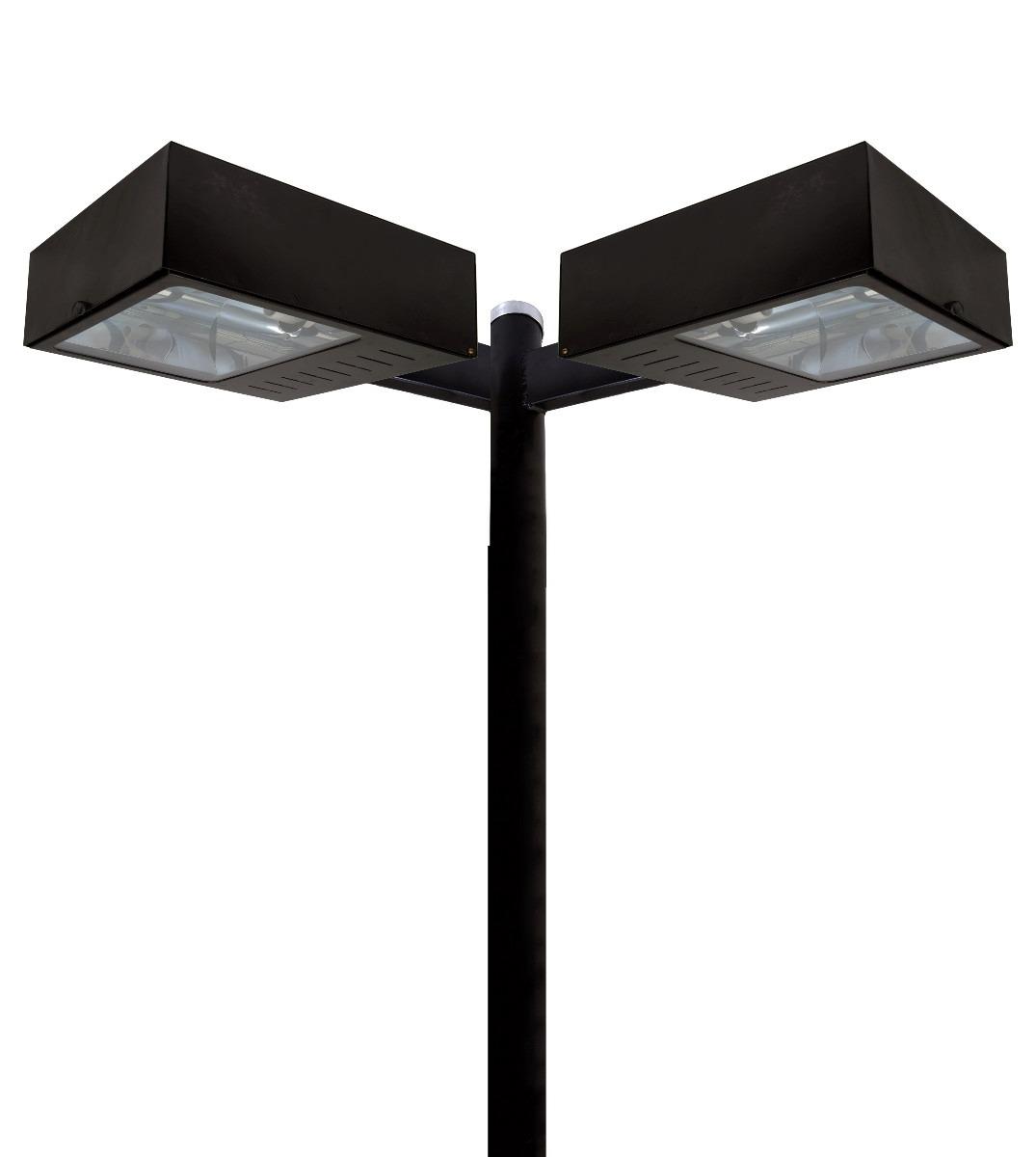 Poste De Iluminação Para Jardim Para 2 Lampadas Com 3 Metros  R$