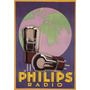 Valvula Radio Philips Globo Miniwatt Vintage Poster Repro