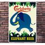 Poster Exclusivo Beer Cerveja Carlsberg Retro Vintage 30x42