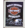 Placa Decorativa Harley Davidson Em Metal 30x40 Cm