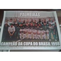 Poster Do Palmeiras - Campeão Da Copa Do Brasil 98