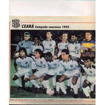 Ceará: Campeão Cearense 1993 - Pôster Da Placar