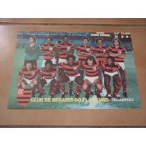 Mini Poster/cartão Flamengo Tri-campeão Carioca 78-79-79(e)