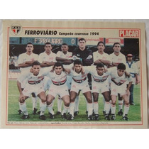 Poster Placar Ferroviário Campeão Cearense 1994.