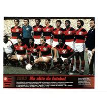 Poster Flamengo 1983 Na Elite Do Futebol Mundial Placar