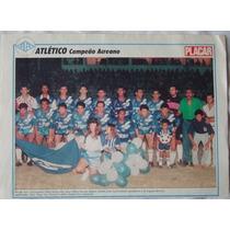 Poster Placar Atlético Campeão Acreano - Ano 1991.