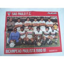 Poster Placar Dupla Face Flamengo E São Paulo Campeões