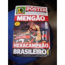 Revista Poster Flamengo Hexacampeão Brasileiro 2009 Lance