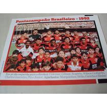 Poster Futebol Flamengo Campeão Brasileiro 1992