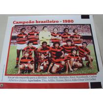Poster Futebol Flamengo Campeão Brasileiro 1980