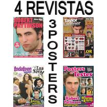 Kit Robert Pattinson Revistas Posters 32 Adesivos Crepusculo