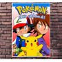 Poster Exclusivo Pokemon Retro Anime Japan Tamanho 30x42cm
