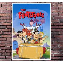 Poster Exclusivo Flintstones Cartoon Desenho Retro -30x42cm