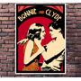 Poster Exclusivo Filme Bonnie E Clyde Retro Vintage 30x42cm