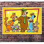 Poster Dom Pixote Ze Colmeia Hanna Barbera Retro - 42x30cm